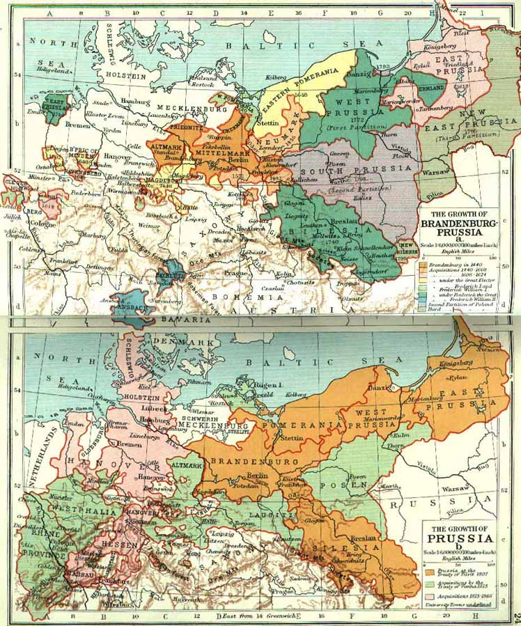Historical maps of germany the growth of prussia gumiabroncs Image collections